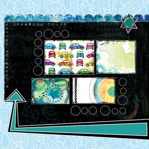 Bisous PDQ Rad paper 2 side B pre designed patterned paper