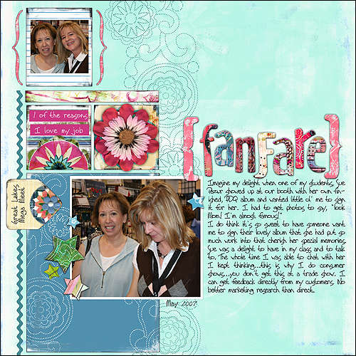 Bisous Layout Sample PDQ Candy Sept 2007 Release Preview pre finished paper