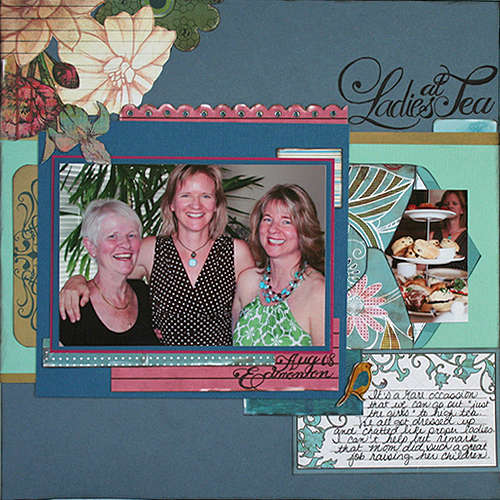 Bisous PDQ pre designed patterned paper Grace paper 1 side B and Grace chipboard