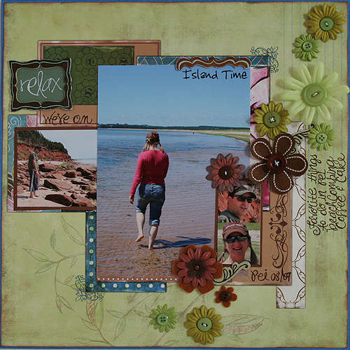 Bisous PDQ pre designed patterned paper Grace paper 5 side B and Grace chipboard