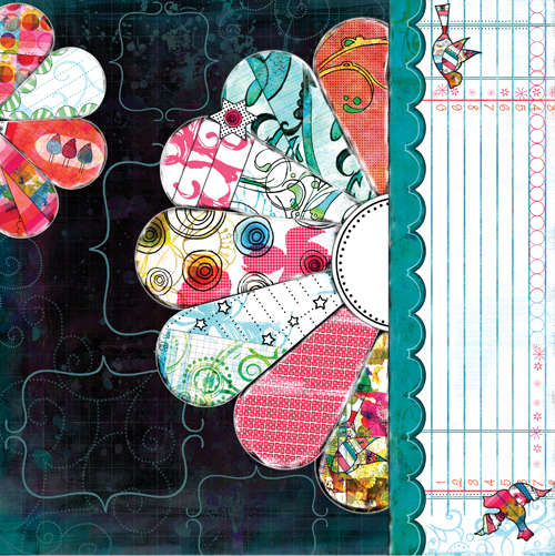 Bisous PDQ Yum paper 1 side A pre designed patterned paper