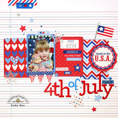 4th of July By Kathy Shou featuring Patriotic Picnic by Doodlebug Design