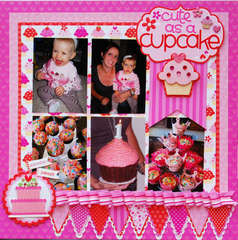 Cute as A Cupcake by Tiffany Hood featuring Doodlebug Sweet Cakes Collection