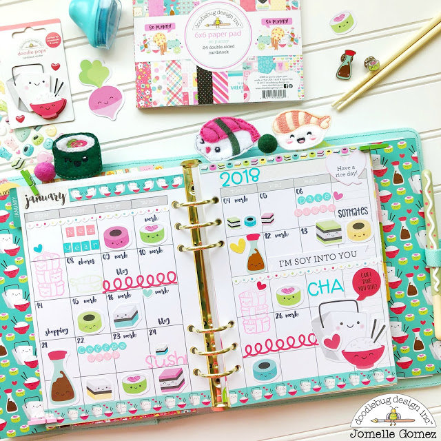 So Punny Monthly Layout by Jomelle Gomez