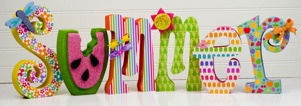 Summer Home Decor featuring The Fruit Stand Collection from Doodlebug Design