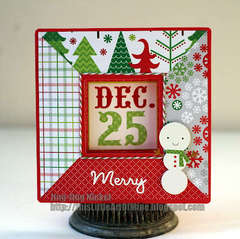 Merry Dec 25 by Jing Jing Nickel featuring North Pole from Doodlebug