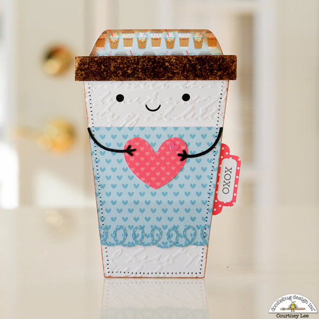 Love You A Latte Card with Cream and Sugar
