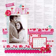 Sweet Love featuring new Lovebirds Collection from Doodlebug Design