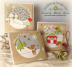 Holiday Cards by Melinda Spinks featuring the North Pole Collection from Doodlebug