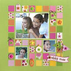 Abby Mae featuring Oodles Brads from Doodlebug Design