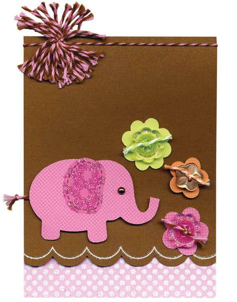 Doodlebug's Elephant Card