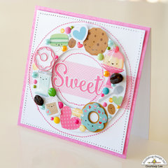 Sweet Card with Cream and Sugar