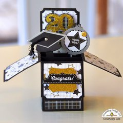 Doodlebug The Graduates Pop-up Grad Card by Courtney Lee