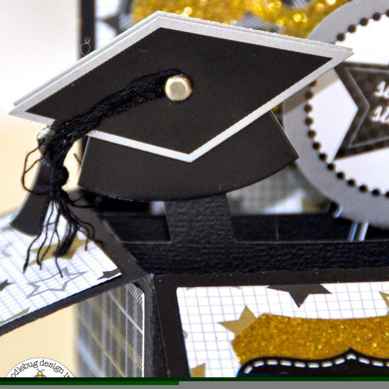 Doodlebug The Graduates Pop-up Grad Card by Courtney Lee