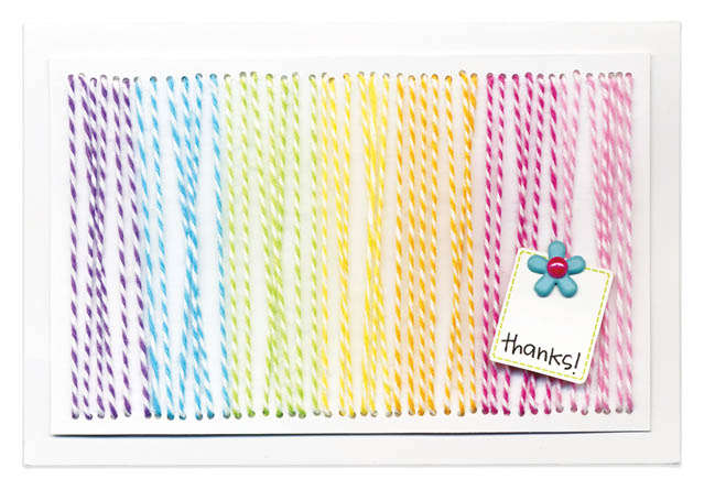 Doodlebug's Thanks Twine Card