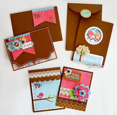Card Set by Wendy Sue Anderson Featuring the Flower Box Collection from Doodlebug