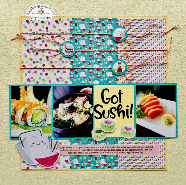 So Punny Sushi Date Layout