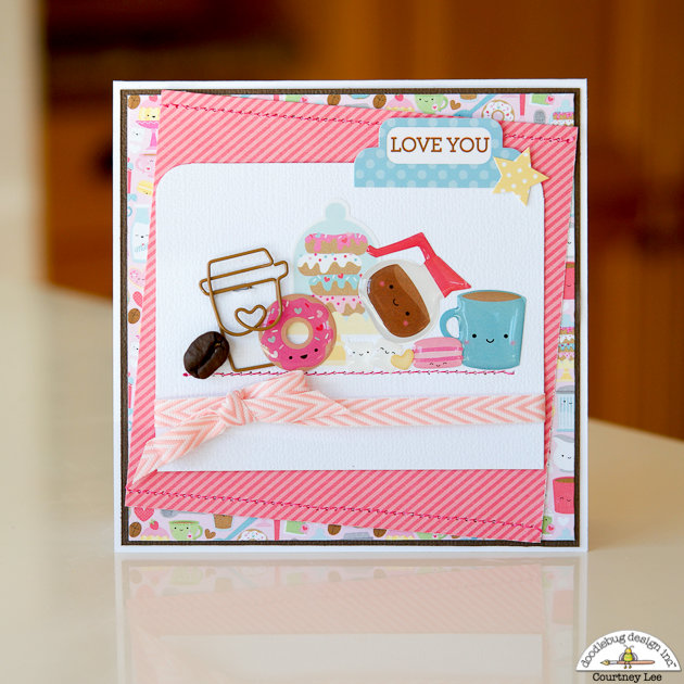 Love You Card with Cream and Sugar