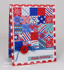 Red White & Blue Quilt by Amanda Coleman