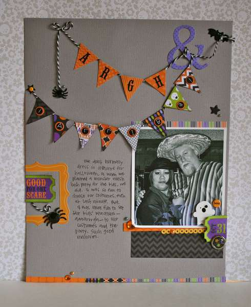 Argh by Sherry Cartwright featuring the Haunted Manor Collection from Doodlebug