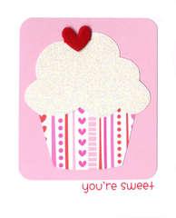 You're Sweet Cupcake Card