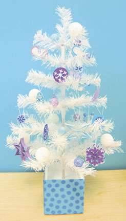 Doodlebug Plain & Simple Tree Decorated for Winter