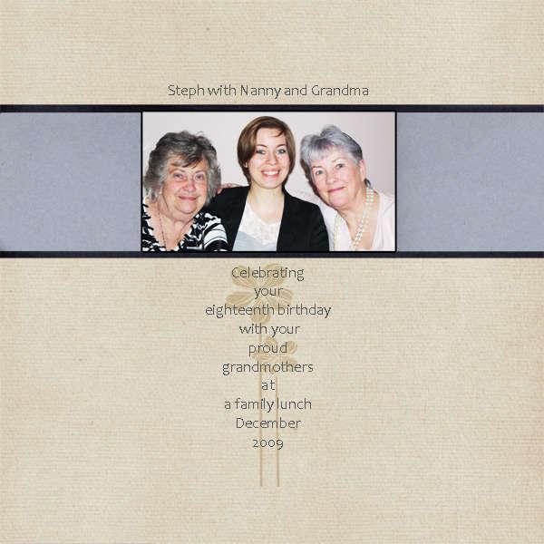 Steph, Nanny and Grandma