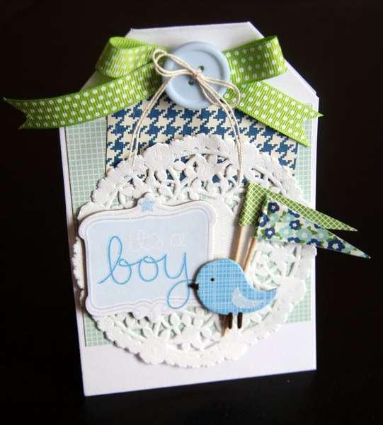 It's a Boy! card **Pebbles**