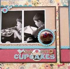 Pink Eye Cupcakes **May** Hip 2B Square kit
