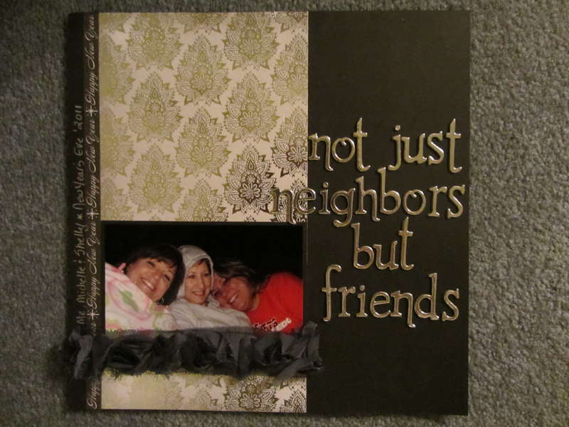 """not just neighbors but friends"""