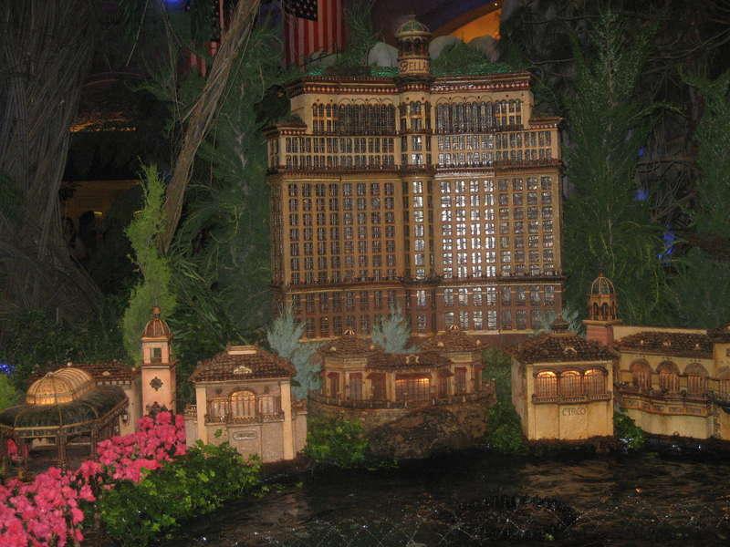 Miniature version of the Bellagio in Las Vegas