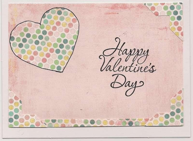Polka dot Valentine Card
