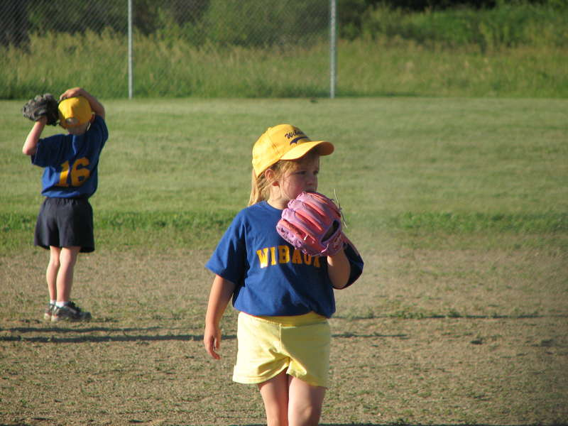 Haley's 1st t-ball game