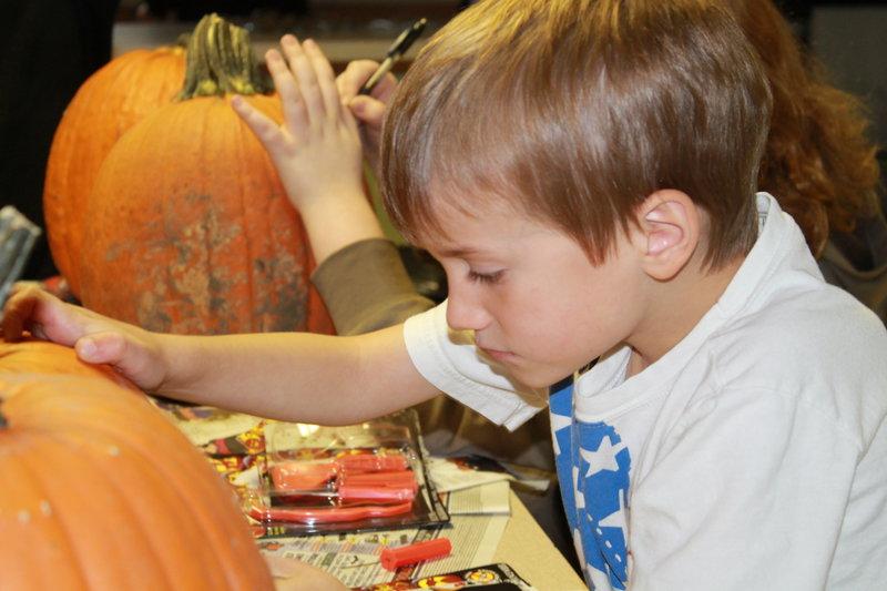 POD#1  Carving Pumpkins with Owen