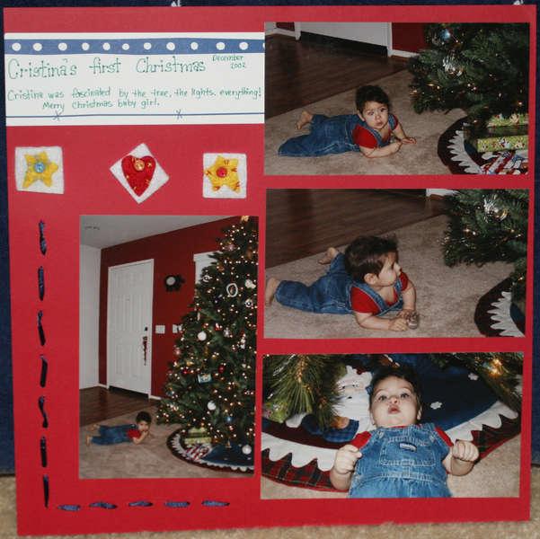 Cristina's first Christmas