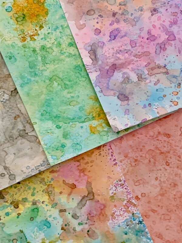Dipped Distress Ink Backgrounds