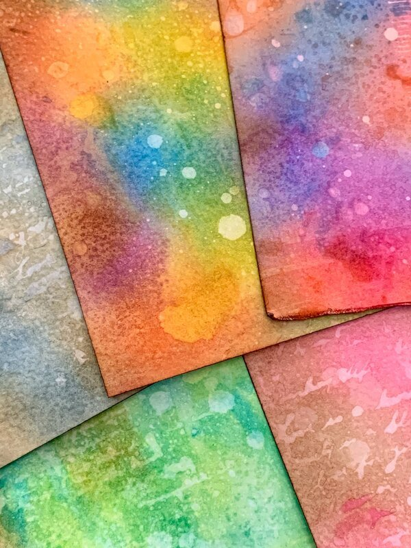 Layered Distress Ink Texture Backgrounds