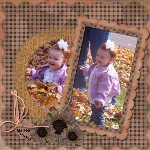 Marlee Playing n the Leaves 2009