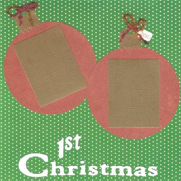 1st Christmas Premade LO