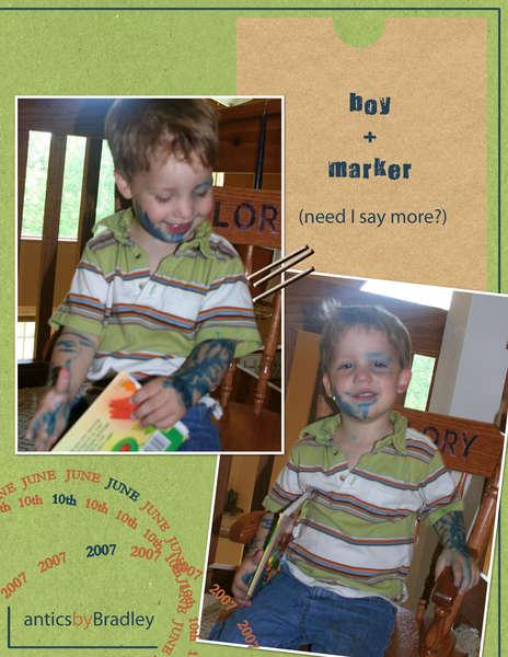boy + marker