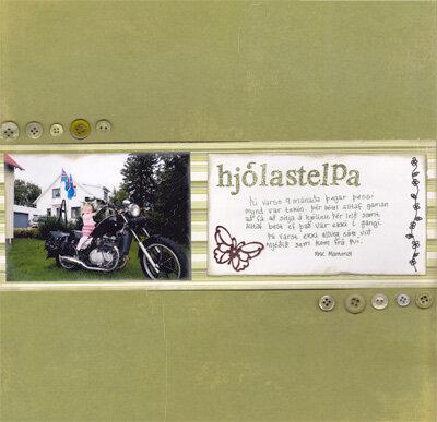 Hjólastelpa/biker girl