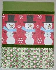 Snowmen card with pleats