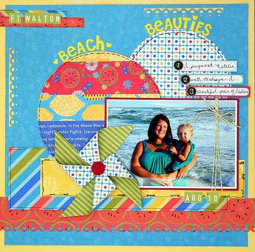 Beach Beauties {The ScrapRoom}