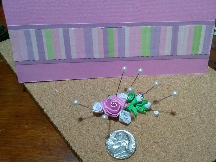 The makings of a quilled card