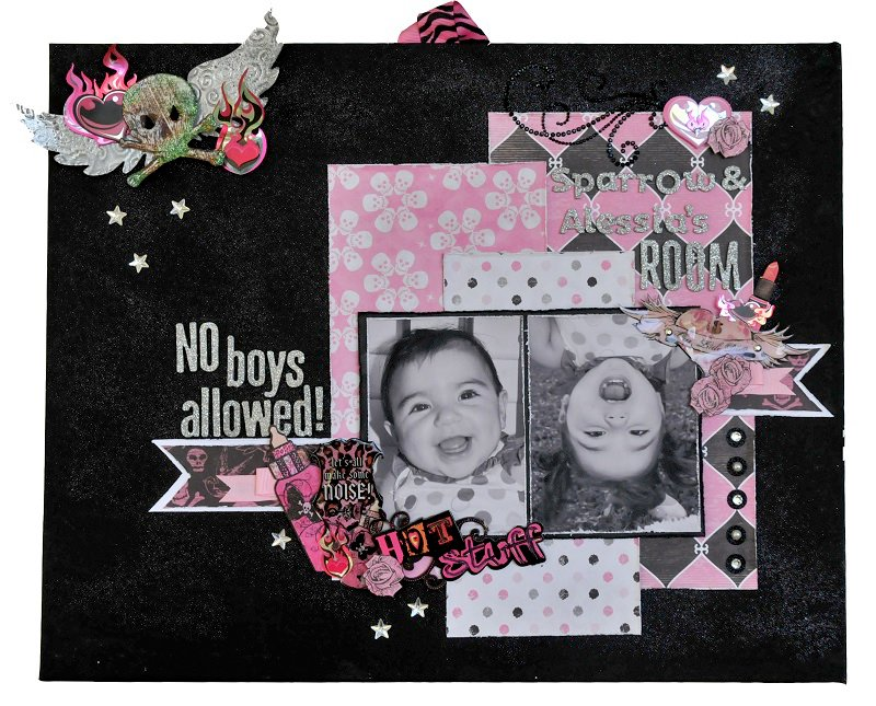 No Boys Allowed Canvas