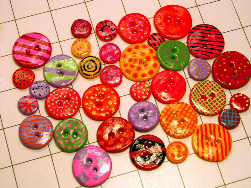 More buttons and flower centers