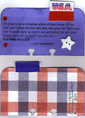 Rolodex card - patriotic quote