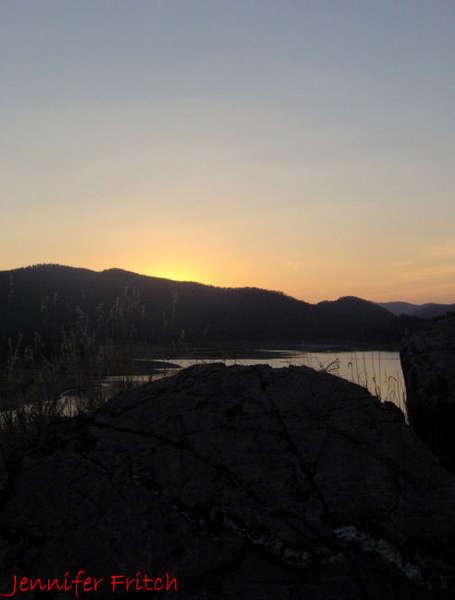 Pactola Lake, SD sunset