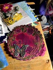 "2.5"" Alcohol Ink, Vinyl & Resin Art"