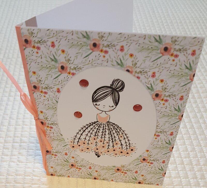 Girl In Pretty Skirt Birthday Card